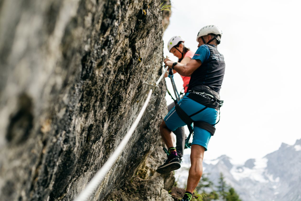 Via Ferrata Croda di Cengles Solda Venosta Valley South Tyrol climbing